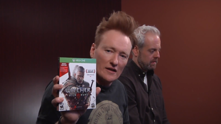 Conan O'Brien juega The Witcher 3: Wild Hunt y descubre de forma cómica las escenas eróticas del juego