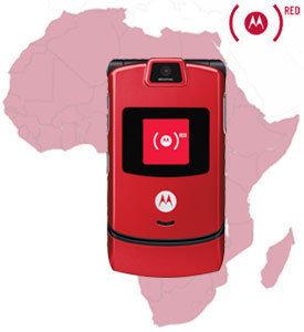 Motorola RAZR en rojo para luchar contra el SIDA