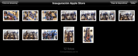 album compartido fotos en streaming compartidas apple