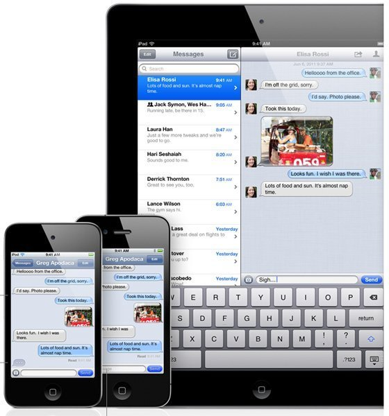 imessage iphone ios 5