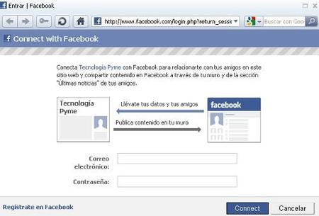 Comentar en Tecnología Pyme con vuestras cuentas de Facebook
