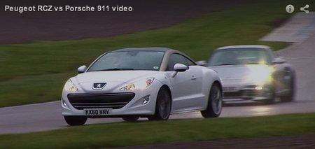 ¿Consume más un Peugeot RCZ HDI a tope en circuito o un Porsche 911 Turbo S siguiéndole la pista?
