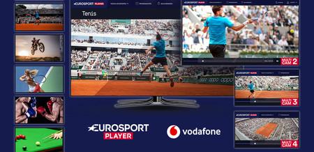 Vodafone TV añade Eurosport Player a su oferta: gratis para clientes del pack Deportes