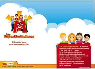 Los Super Mediadores es un juego para la prevención de conflictos entre niños y ayudarles a desarrollar habilidades de comunicación y negociación