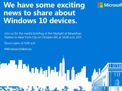 Microsoft presentará nuevos dispositivos el 6 de octubre: esto es lo que esperamos