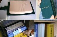 Una almohada de escritorio camuflada entre tus libros