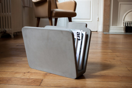 Folder Concrete Magazine Holder 3