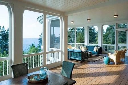 terraza azul turquesa