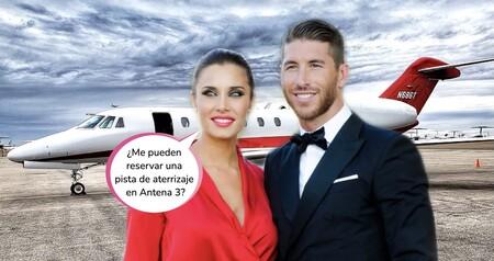 ¡Menudo bicharraco! Este es el avión privado de Sergio Ramos con el que Pilar Rubio aterrizará en 'El Hormiguero' cada semana
