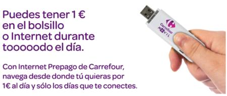 Carrefour móvil, bono de internet en prepago por 6€ mensuales