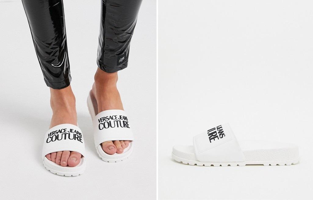 Chanclas con suela chunky de Versace Jeans Couture