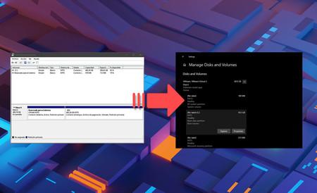 Otra estocada para el Panel de Control: Windows 10 tiene nueva herramienta de gestión de discos estilo Modern