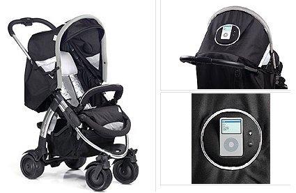 Carro de bebés con dock para el iPod