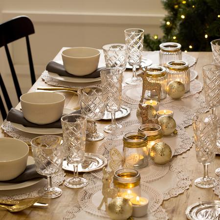 Un sueño de cristal y oro para decorar tu piso esta Navidad