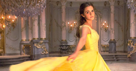 Belle Gold Dress Emma Watson Beauty And The Beast Fb