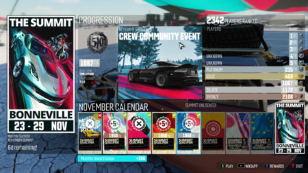 The Crew Summit Bonus Reward