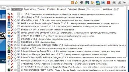 Gestiona mejor las extensiones de Chrome con Extensions Manager