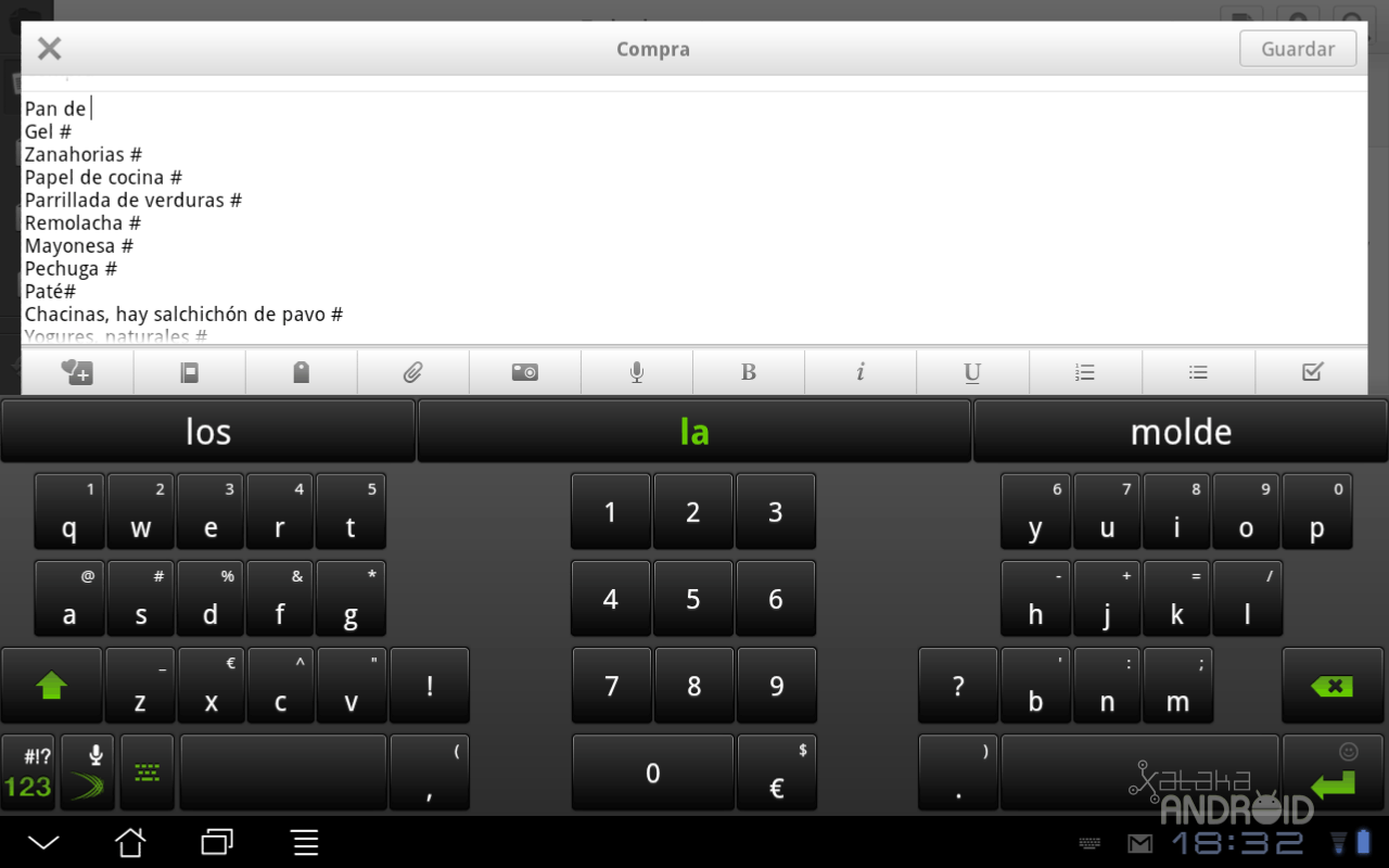 Foto de Swiftkey X Tablet (1/6)