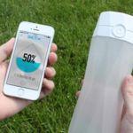 Esta botella se sincroniza con tu smartphone y te dice cuándo debes beber agua