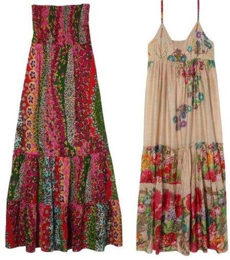 vestidos largos flores