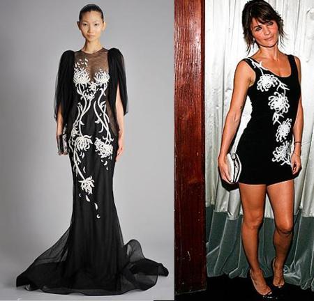 Las celebrities modifican los vestidos de los diseñadores