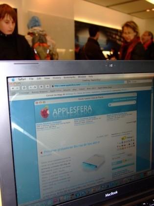 Applesfera en la tienda de la 5a avenida