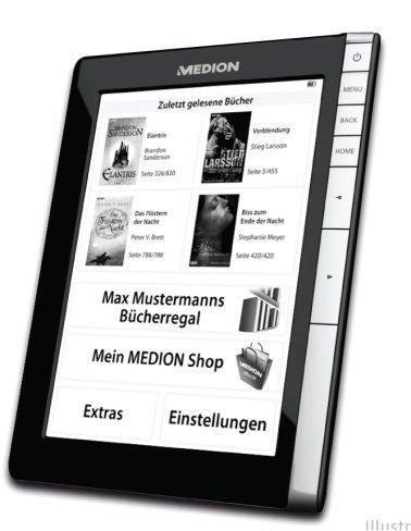 Medion MD97866, lector de libros electrónicos con WiFi