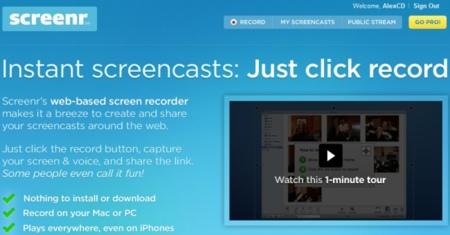 Graba screencasts de forma rápida y sencilla desde el navegador con el excelente Screenr