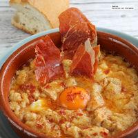 Sopa castellana o sopas de ajo con jamón. Receta