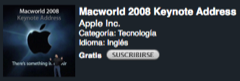 El vídeo de la MacWorld Keynote, disponible en iTunes