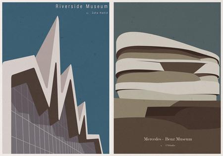 Ilustraciones icónicas de arquitectura - 2