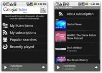 Google Listen se aprovecha de Google Reader para las actualizaciones
