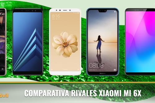 Así se enfrenta el Xiaomi Mi 6X a sus rivales de gama media/alta en 2018