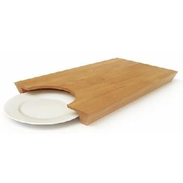 Tabla de cortar con plato incorporado