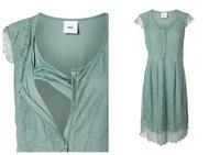 vestido lactancia verde