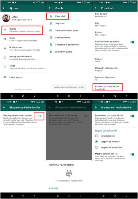 Lock Whatsapp With Footprint