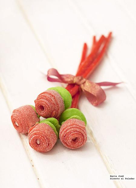 Ramo de rosas con gominolas: receta para el día de la madre