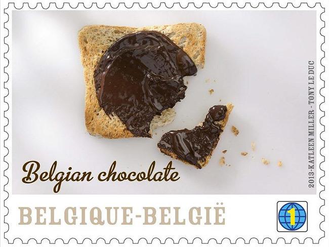 Bélgica pone en circulación un sello de chocolate