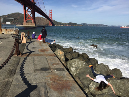 Stefdies At Golden Gate Bridge In San