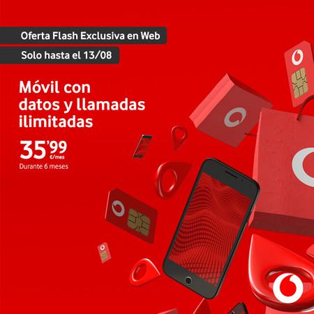 Oferta Flash: llamadas y datos ilimitados 5G en Vodafone por sólo 35,99 euros al mes