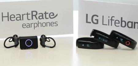 LG anuncia Lifeband Touch y Heart Rate earphones