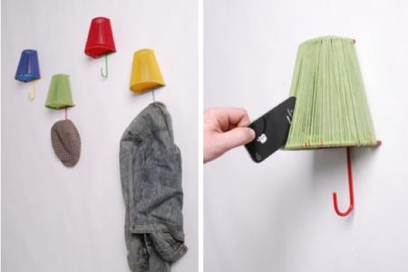 colgadores lámparas