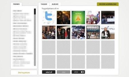 Pick&Zip: descarga todas las fotos de Facebook en las que te etiquetaron