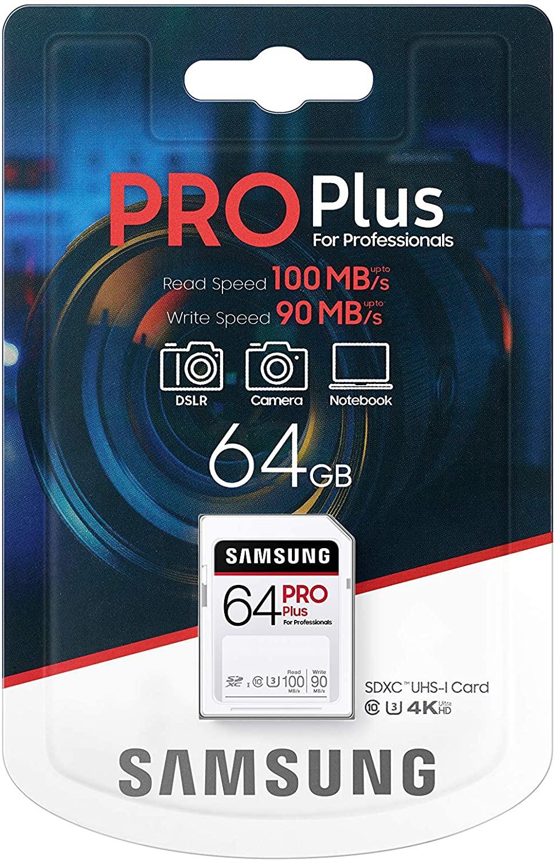 Tarjeta SD Samsung Pro Plus 64GB
