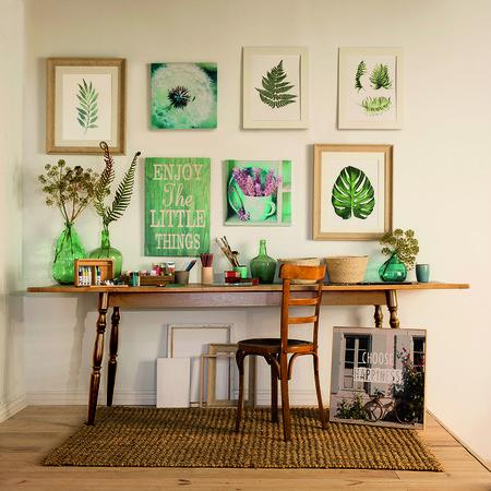 Siete maneras creativas de incorporar arte en hogares pequeños