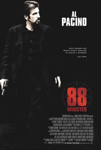 Póster de '88 Minutes', Al Pacino a contrarreloj