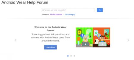 Google abre oficialmente un foro de ayuda para usuarios de Android Wear