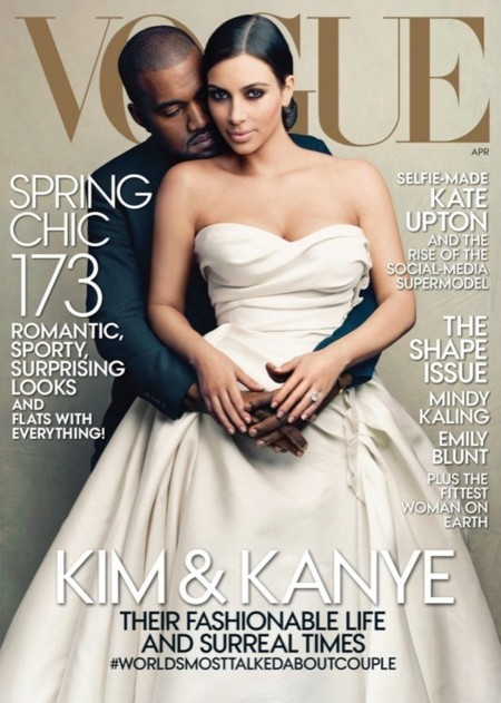 kim kardashian kanye west vogue usa 2014