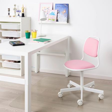 Ikea, silla de escritorio rosa