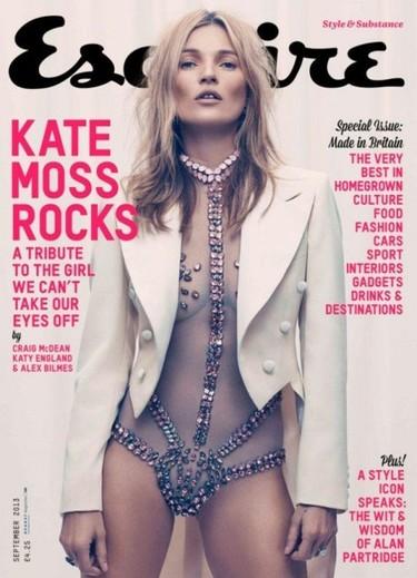 Kate Moss en Esquire, vestida de... ¿domadora de pulgas?